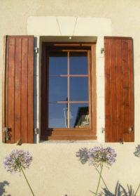 Fenêtre PVC chêne doré