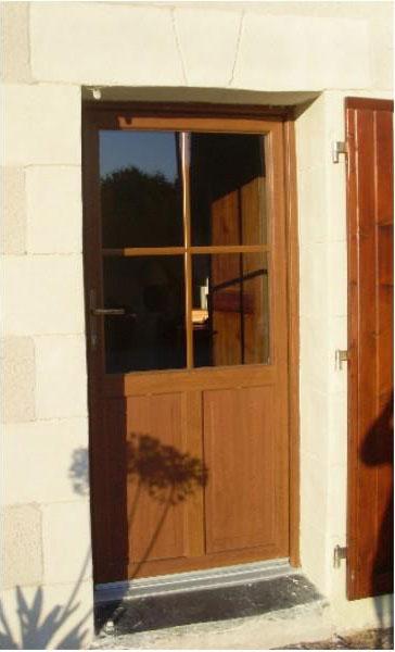 Porte fenêtre PVC chêne doré Menuisier Loire Authion