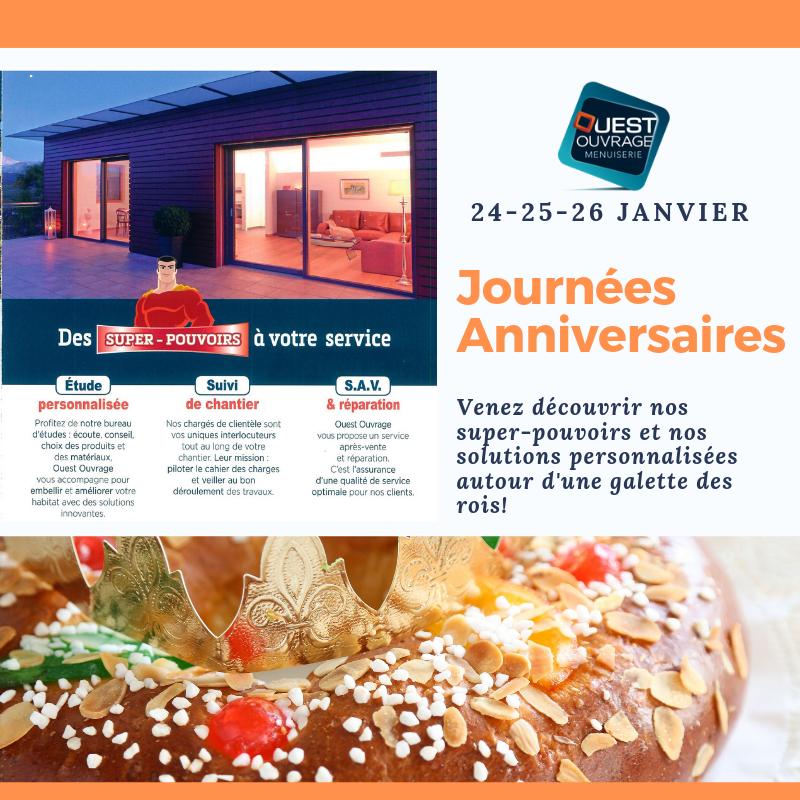 Journées Anniversaires Ouest Ouvrage Menuiserie Loire-Authion